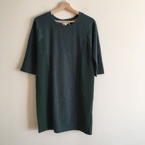 Lilka Jacquard Sweater Dress Thick Forest Green